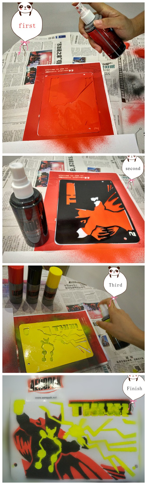 Washable Chalkboard Fluorescent Spray Paint For School / Industry 200ml