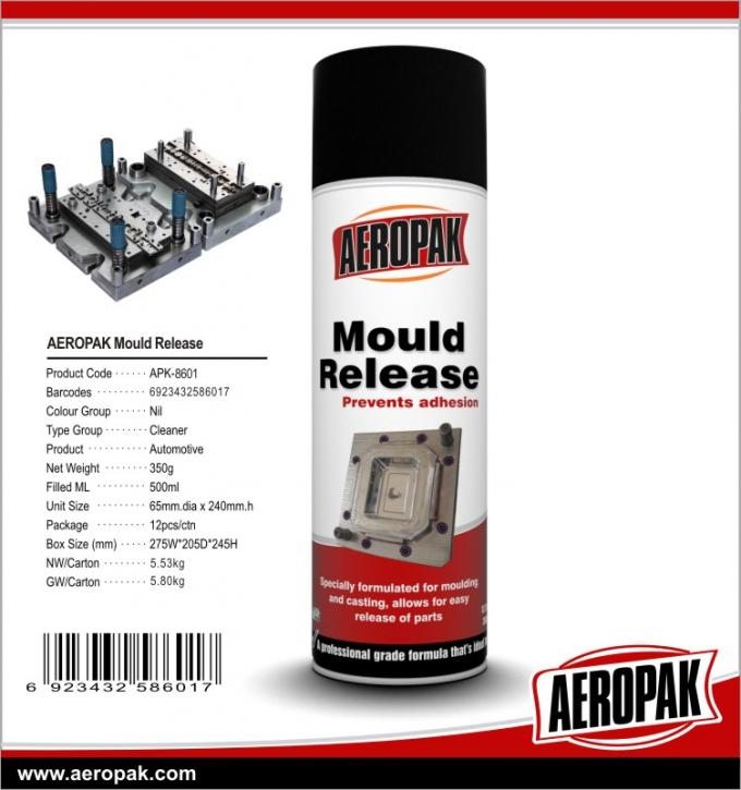 500ml Professional Metal Mould Cleaner Spray To Remove Oil / Grease / Soil