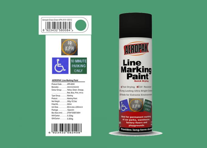 AEROPAK Line Marking Spray Paint 500ml grass green color with ROHS for street
