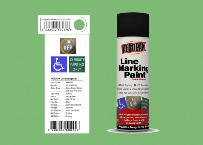 AEROPAK Line Marking Spray Paint leaf green color 500ml for street with ROHS