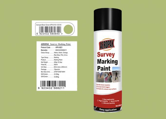 AEROPAK 500ML bean green Survey Marking Spray Paint for land with MSDS certificat