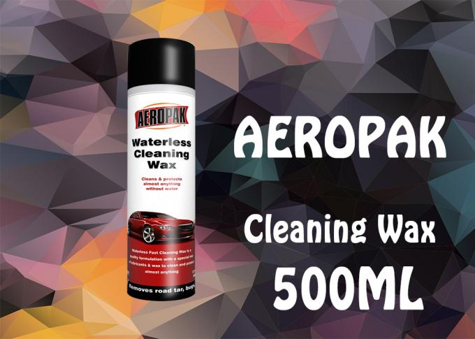 500 Milliliter Car Care Products , Waterless Cleaning Wax For Wiping Off Dusts