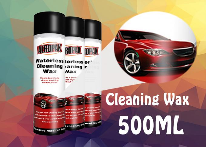 Spray Type Car Care Products , Waterless Cleaning Wax For Wipe Off Pitch