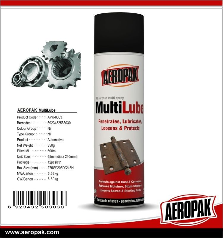 Anti Rust Lubricant Spray Car Care Products Multi - Lube For Stops Squeak