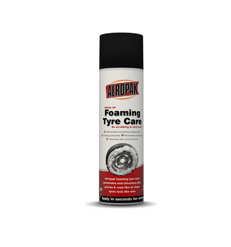 Effectively Car Care Products / Tyre Foam Spray For Glazing And Protection