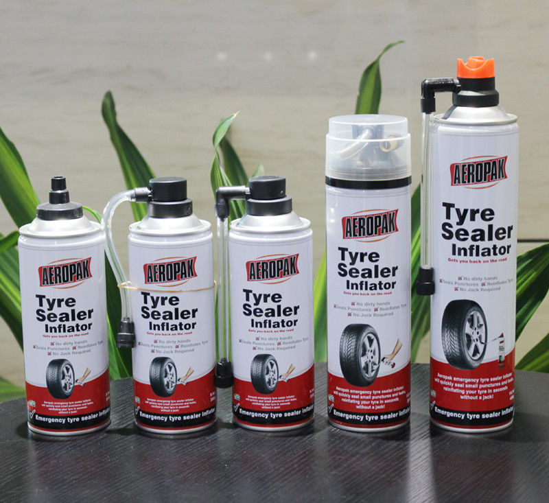 Aerosol Tubeless Tyre Liquid Sealant Non Toxic And Odorless For Car / Motorcycle