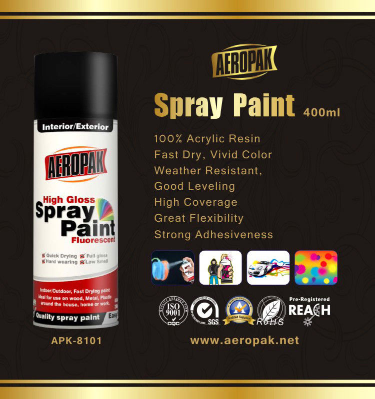 High Glossy Aerosol Spray Paint , Wide Coverage Automotive Aerosol Paint