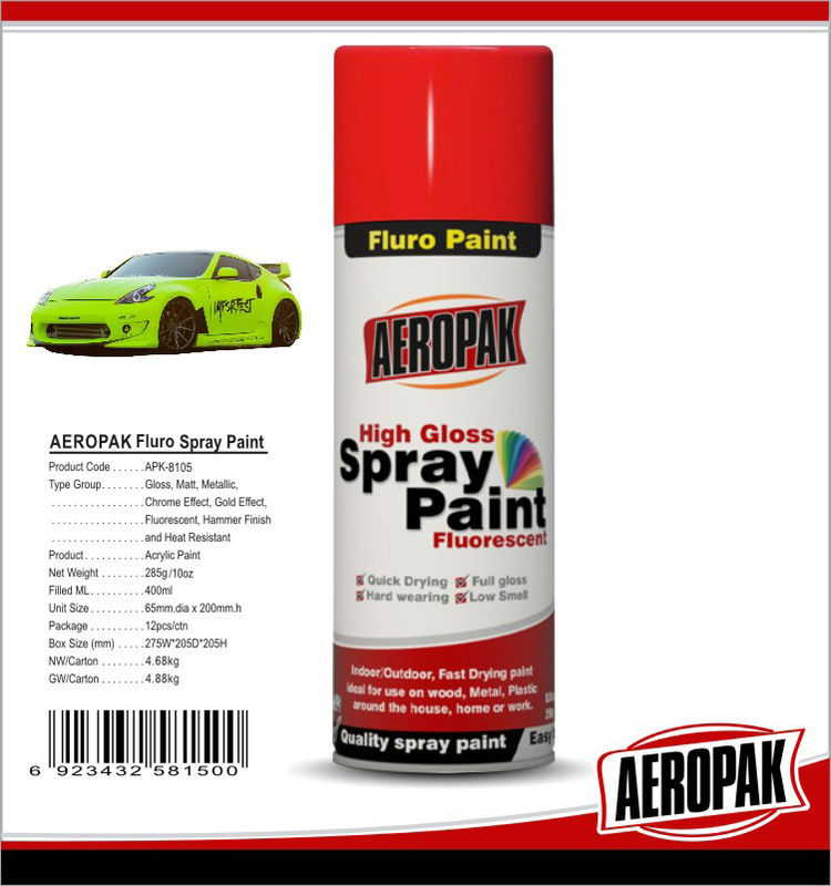 Colorful Aerosol Spray Paint 5 Minutes Surface Dry Time For Wood / Metal