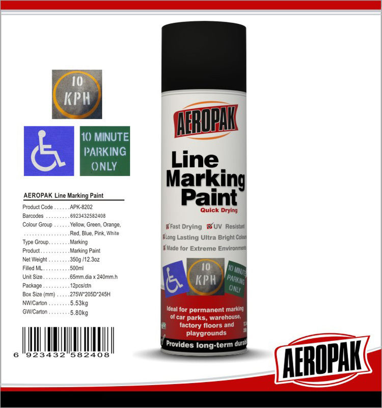 Weather Proof Road Marking Spray Paint For Concrete / Asphalt / Glass