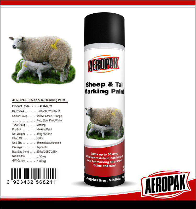 Eco Friendly Marking Spray Paint Fast Drying Pig Cattle