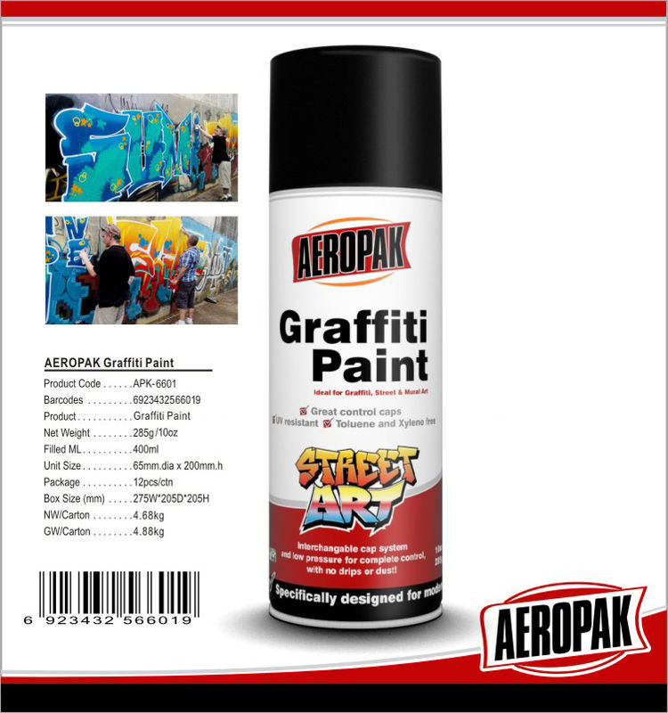 280g Multi Colors Ironlak Graffiti Spray Paint Art UV Resistance For Outdoor