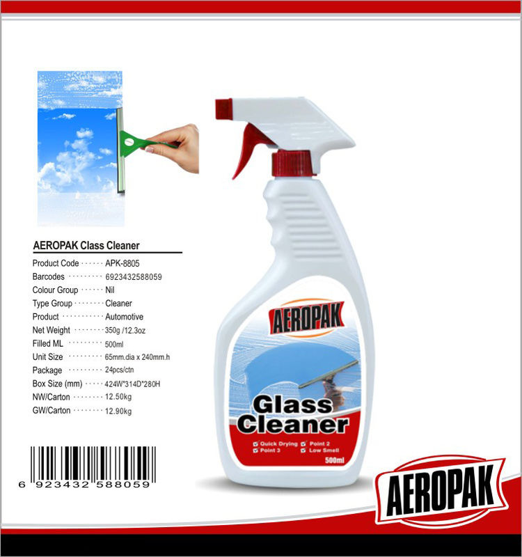Household Non Toxic Cleaning Products For Windscreen / Mirror / Glass