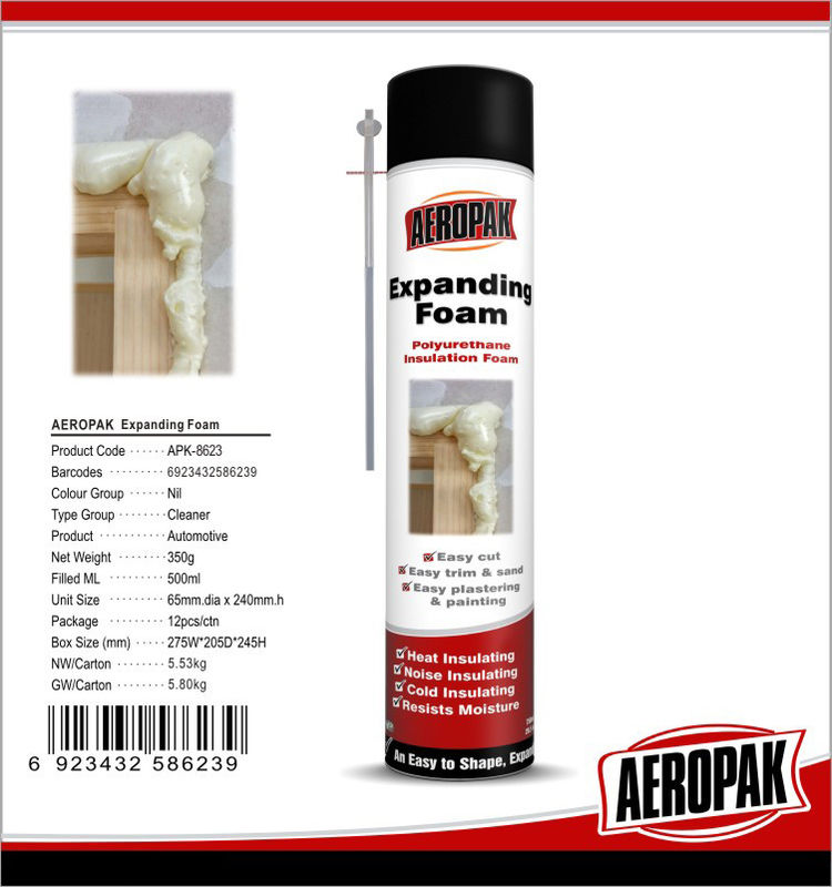 Soundproofing PU Foam Sealant / Fire Retardant Foam For Plastic / Metal
