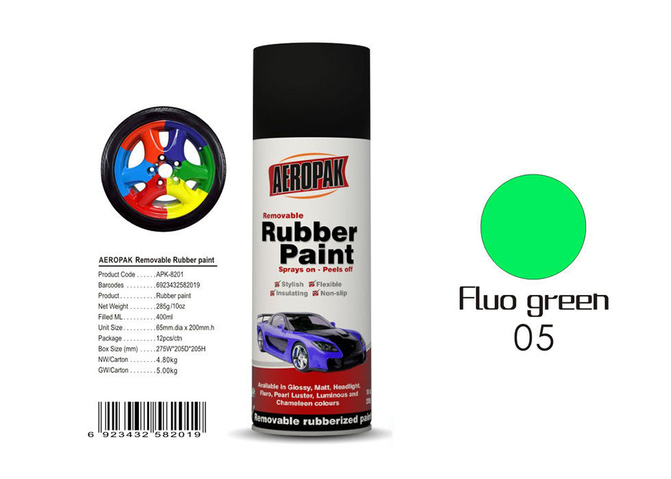 Fluo Green Color Liquid Rubber Spray For Protecting Various Surfaces