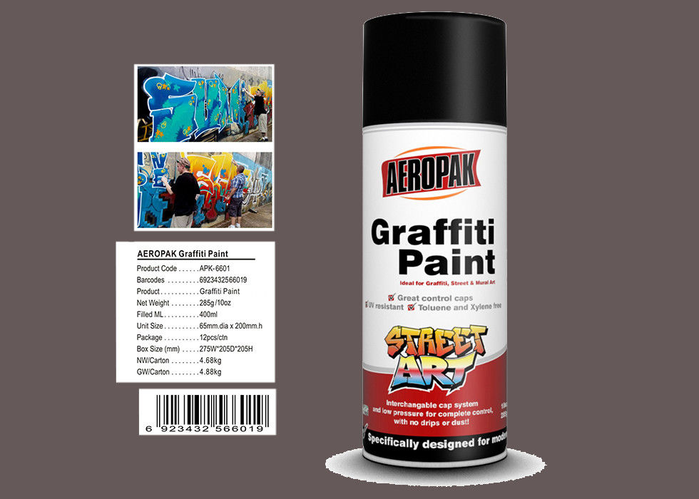 Light Brown Color Graffiti Spray Paint  Strong Covering Power For Decoration