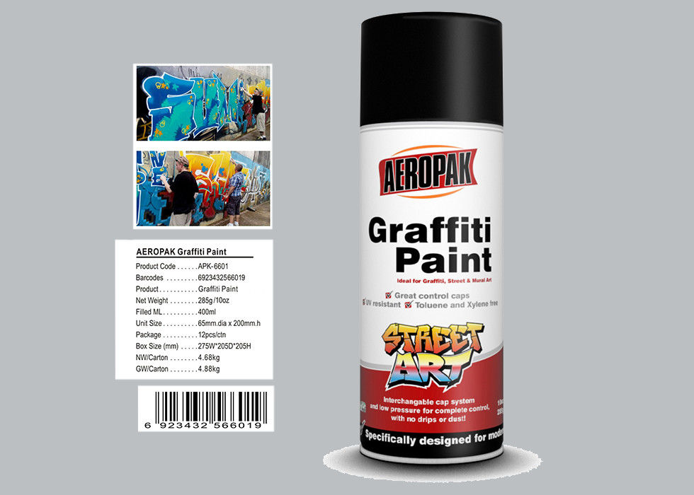 65mm Diameter Graffiti Wall Painting With Silver Grey Color APK-6601-16