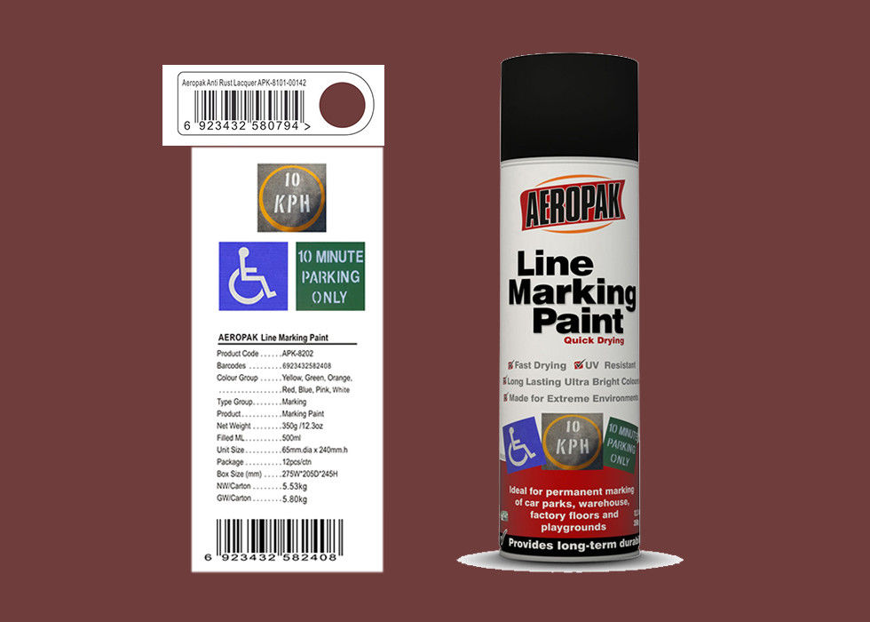 AEROPAK anti rust lacquer Line Marking Spray Paint for road with MSDS