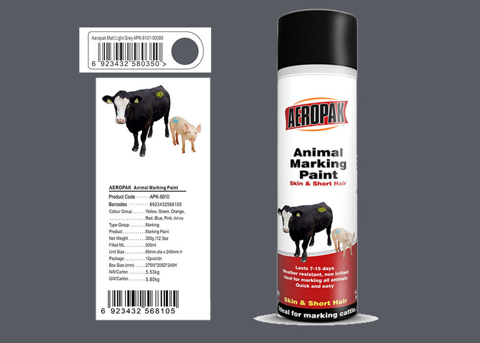 Spray Marking Spray Paint Matt Light Gray Color No Harm For Animal APK-6810-8