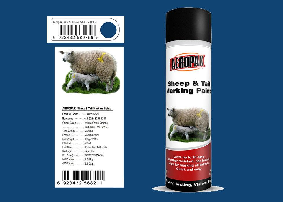 Futian Blue Color Marking Spray Paint Sheep Marking Paint