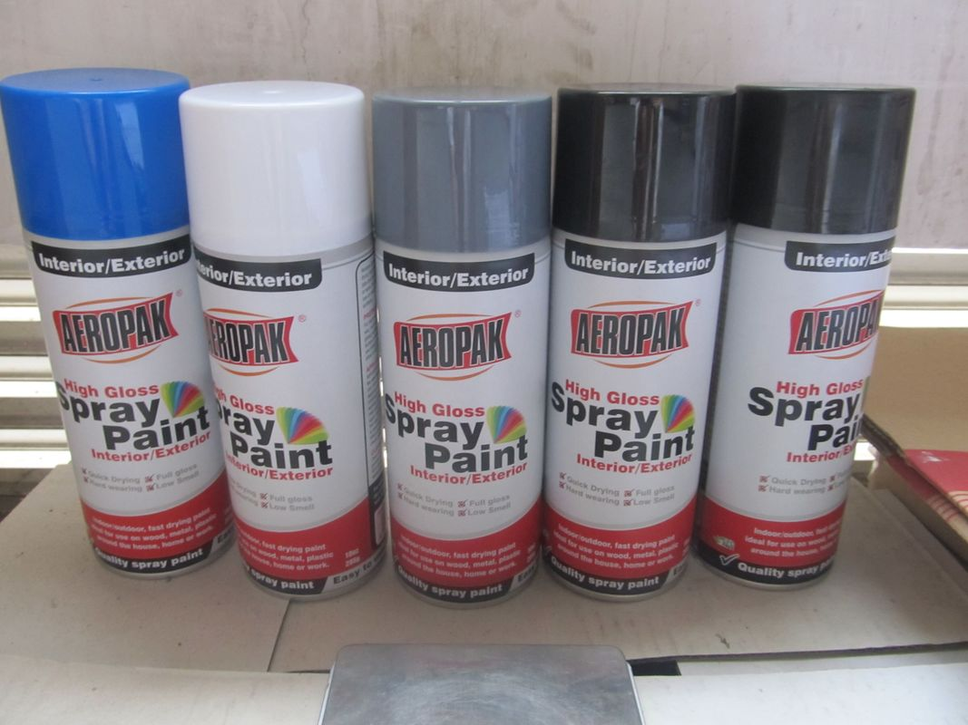 400ml Aerosol Spray Paint General High Gloss Purpose Interior / Exterior Applied