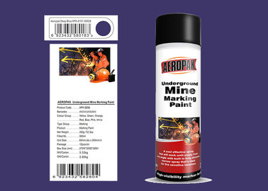 AEROPAK 500ML deep blue Underground Mine Marking Spray Paint for construction with MSDS