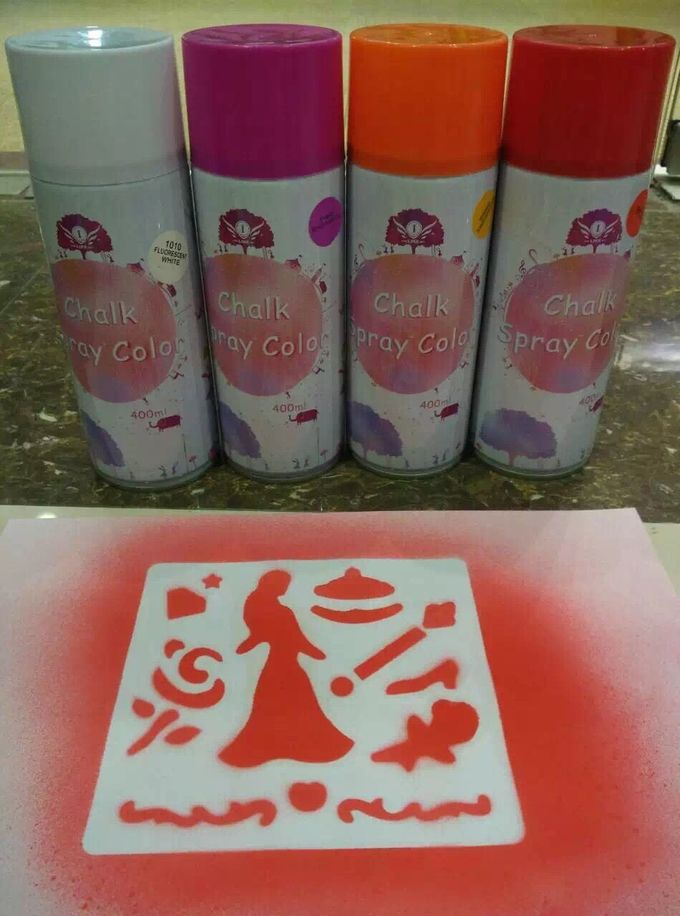 Safe Washable Chalk Spray Non Toxic Marking Paint For Marketing Campaigns